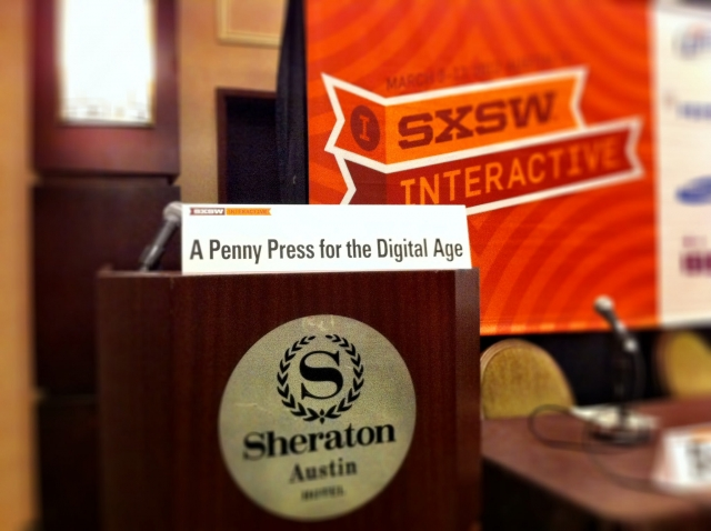 SXSW2012: A penny press for the digital age Picture