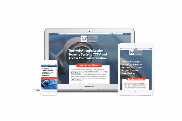 Responsive design of US Control Sytems, Inc.