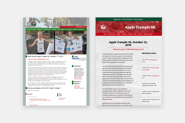 AppleTrample.com 2008 and 2016 Versions