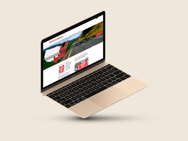 Desktop version of Applewood Motorcar Homepage
