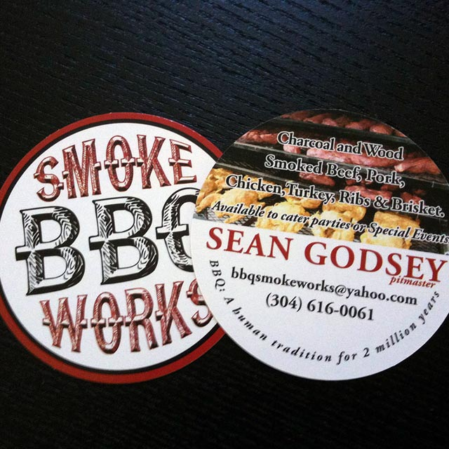 Smoke Works BBQ Business Cards Project Photo